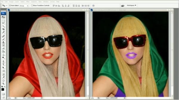 цвет волос в фотошопе