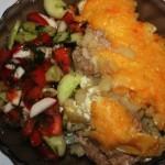 Мясо в овощной шубе