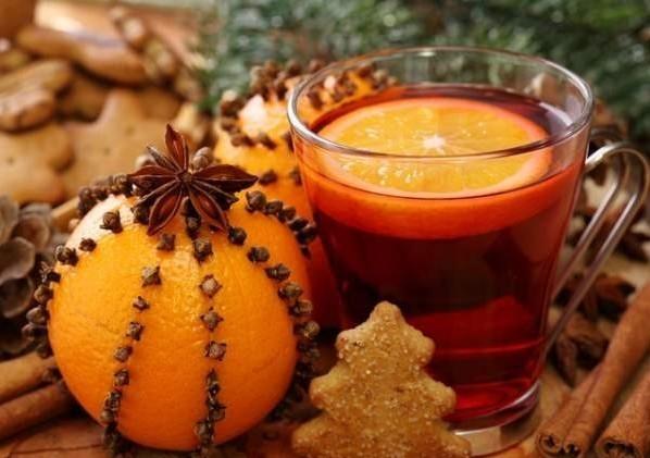 украшение из апельсина
