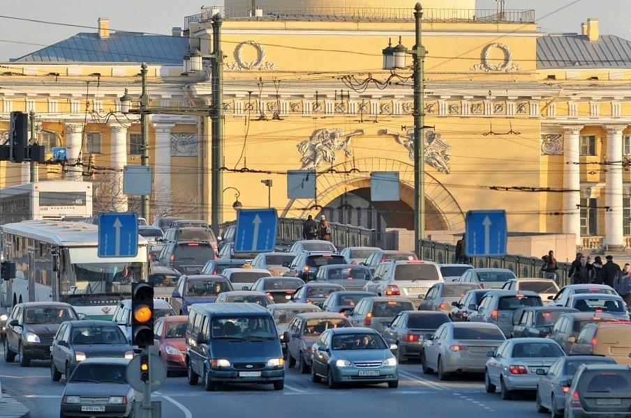 Движение в центре Москвы