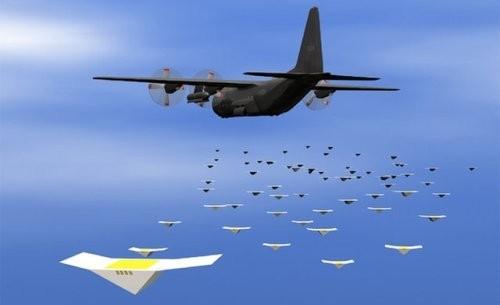 Сброс беспилотников с самолета
