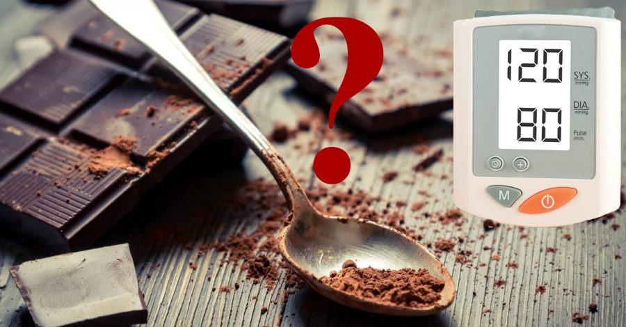 шоколад влияет на давление
