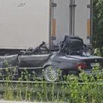 Смертельное ДТП под Киевом: BMW влетел в фуру на скорости 210 км в час