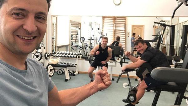 Владимир Зеленский занимается спортом